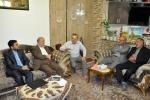دیدار روزبه استاندار قزوین با جانباز سعید جدلیها و خانواده شهید محمدعلیخانی