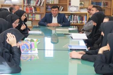 علی اکبرسلیمانی،فرماندارآوج، بازدید،کتابخانه