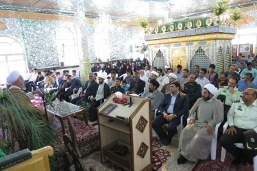 علی اکبرسلیمانی،فرماندارآوج، مراسم،بزرگداشت،شهید،حججی